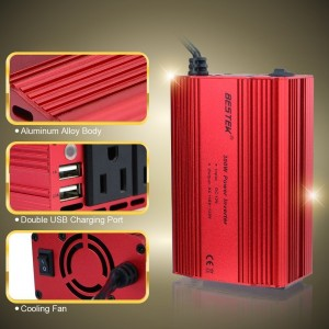BESTEK 300W Dual 110V AC Outlets Power Inverter