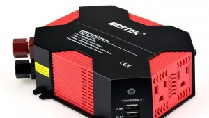 BESTEK 400W Power Inverter Dual 110V AC Outlets 4 USB Ports