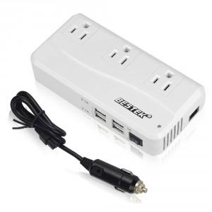 BESTEK 200W Car Power Inverter 4 USB Charging Ports