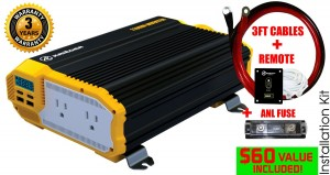 KRIEGER 1100 Watt 12V Power Inverter