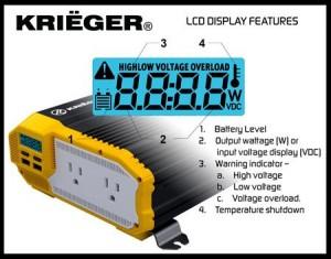 KRIEGER 1100 Watt 12V Power Inverter