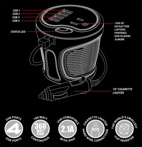 Energizer 180W Cup Power Inverter