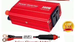 AKILULU 300W 12VDC to 110VAC Power Car Inverter
