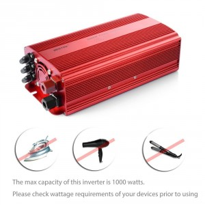 BESTEK 2 AC Outlets 1000W Power Inverter